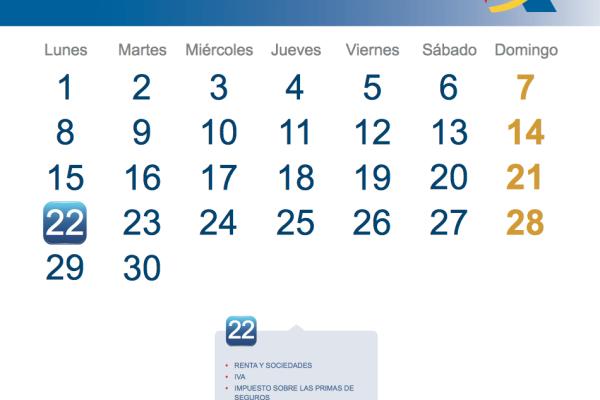 Calendario fiscal Septiembre 2014